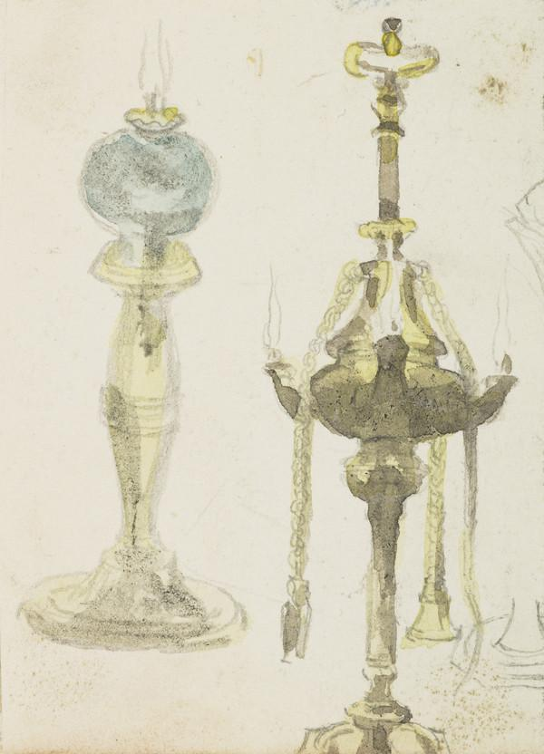 Study of Two Oil Lamps