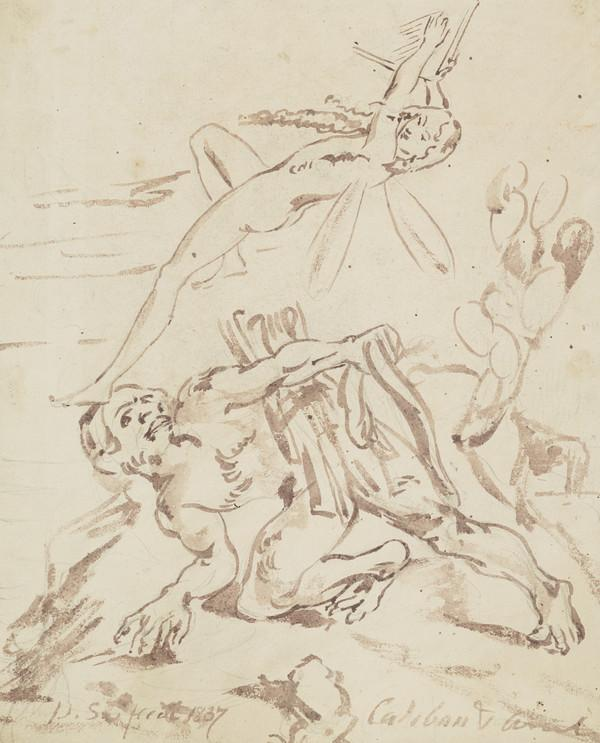 Study for the Painting 'Ariel and Caliban' (Dated 1837)