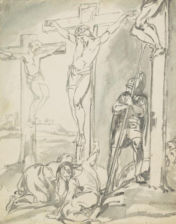 Study for the Painting 'The Crucifixion ... St Matthew' (Dated 1840)