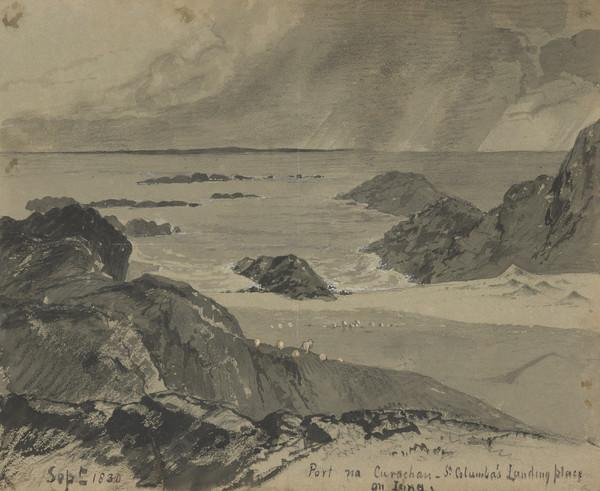 Study for the Painting 'Port na Curachan, Iona' (Dated Sept 1830)