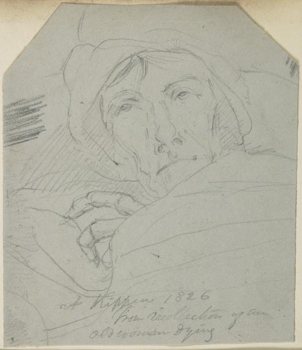 Old Woman Dying, Kippen (Dated 1826)