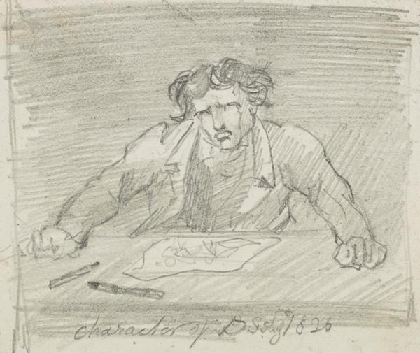 David Scott with Engraving Tools (Dated 1826)
