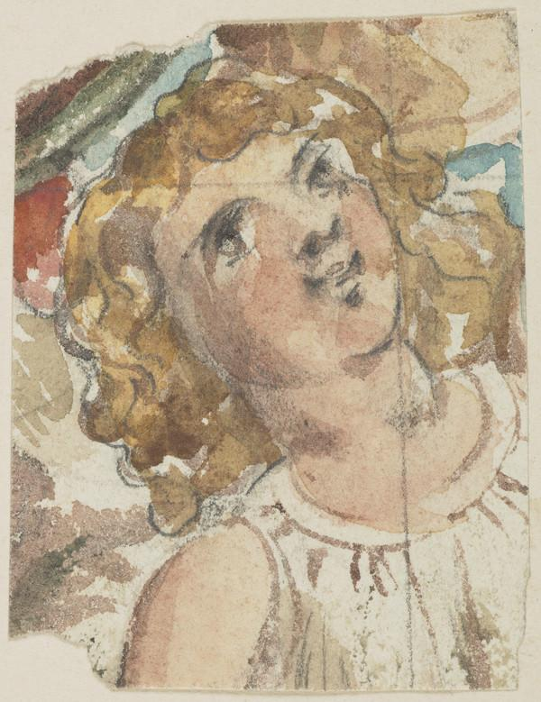 Colour Study of a Detail for the Painting 'The Triumph of Love - Cupid, Borne by Three Nymphs as on a Tripod' (About 1846)