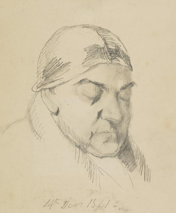 The Artist's Uncle, George, Sleeping (Dated 14 Decr. 1841)