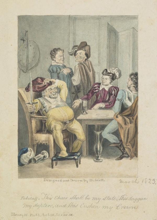 Design for an illustration to Henry IV, Part 1, Act III, Scene 9 (Dated March 1823)