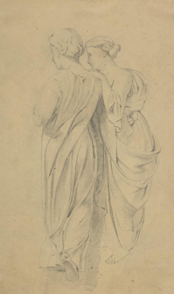Two Standing Female Figures in Classical Dress