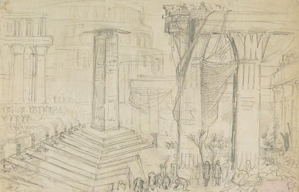 Biblical Scene. Nineveh (Dated 1829)