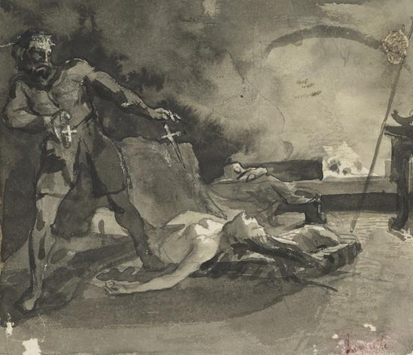 Historical Scene with a Dead Woman