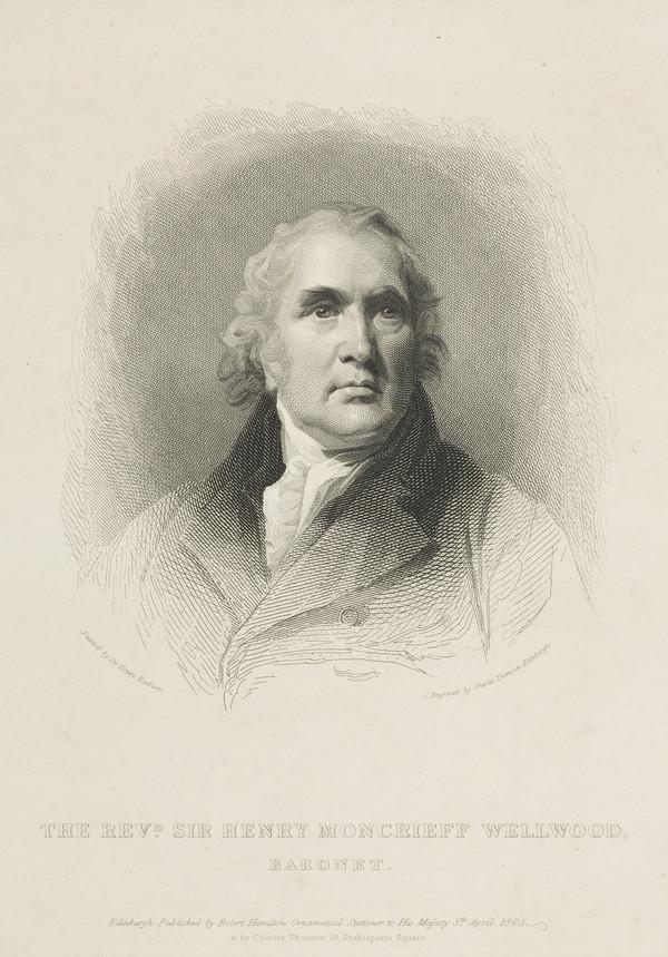 Rev. Sir Henry Moncreiff Wellwood, 1750 - 1827. Chaplain to George III