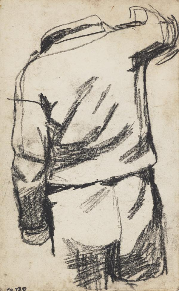 Study of a Boy in a Blazer and Shorts, Seen from Behind