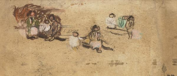 Two Mothers Watching Children Playing