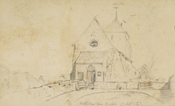 Church at Rottingdean, Brighton (Dated 17th Sept. 1843)