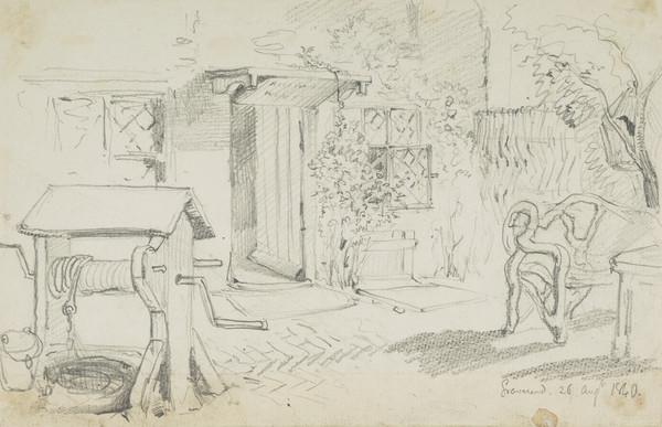 Garden of a Cottage at Gravesend (Dated 26 Aug. 1840)