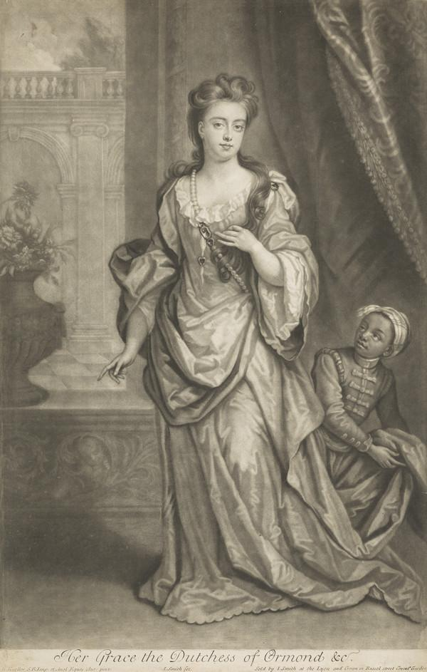 Mary (née Somerset), Duchess of Ormonde, 1665 - 1733. Lady of the Bedchamber and second wife of 2nd Duke of Ormonde