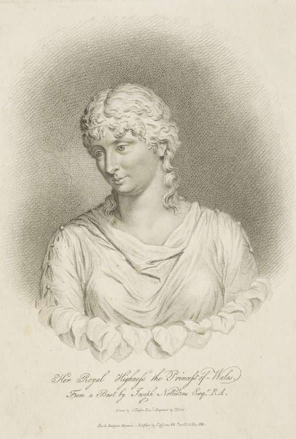 Queen Caroline; Princess Caroline Amelia Elizabeth, 1768 - 1821. Daughter of Charles, Duke of Brunswick-Wolfenbuttel; Queen of George IV (Published 1813)