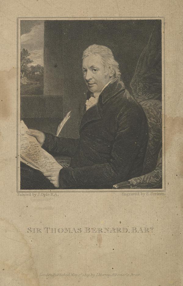 Sir Thomas Bernard, Bart, 1750 - 1818. Philanthropist