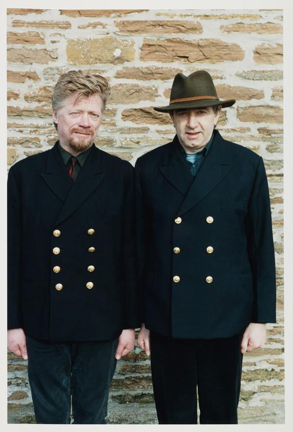 Steven Campbell, (1953 - 2007) Artist. (with Bill Forsyth, b. 1946. Film producer)