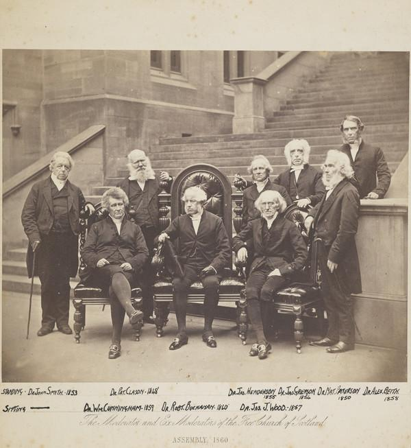 The Moderator and Ex Moderators of the Free Church of Scotland, Assembly 1860 (1860)
