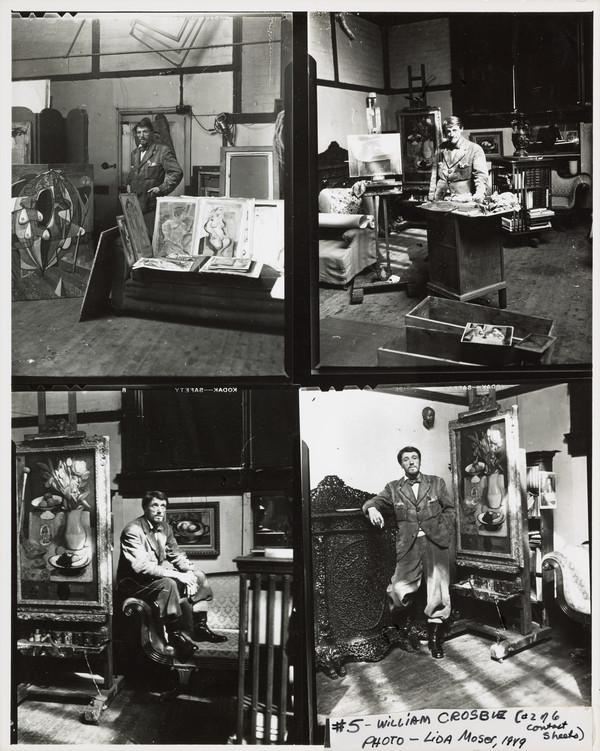 William Crosbie, 1915 - 1999, Artist. In his Studio