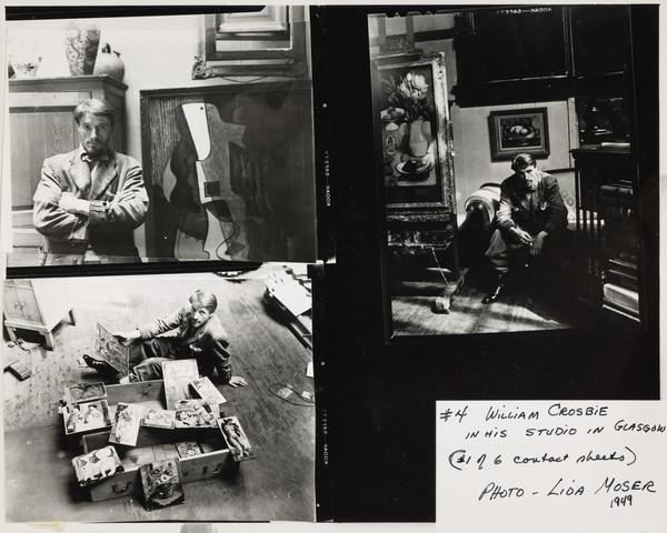 William Crosbie, 1915 - 1999, Artist. In his Studio in Glasgow