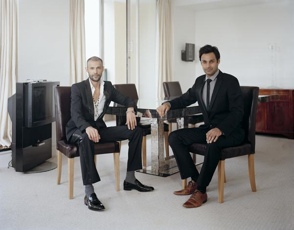 Atta Yaqub (right) with his Brother, London, 19 May 2011. From A Scottish Family Portraits series (2011)