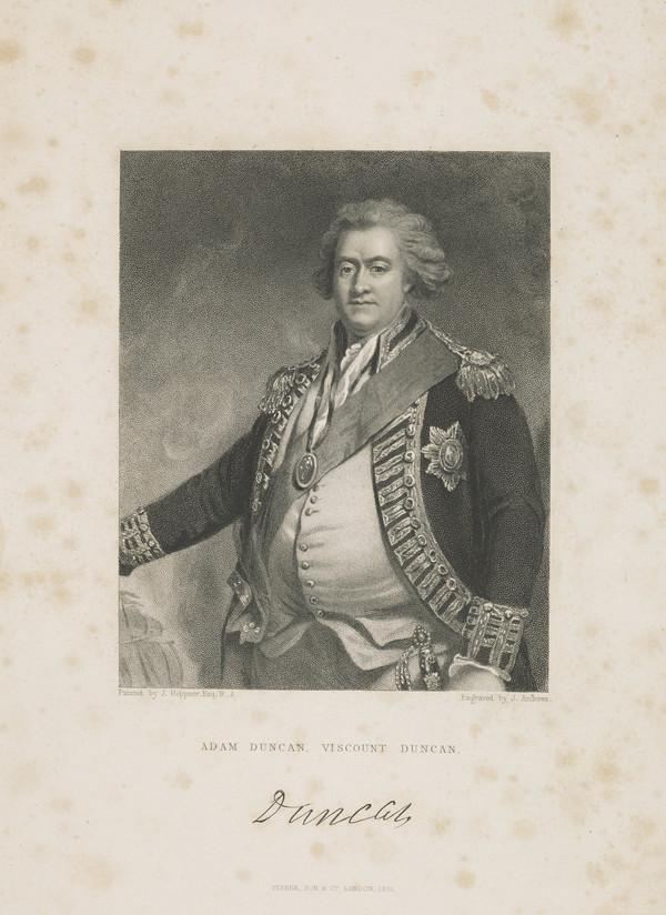 Adam Duncan, 1st Viscount Duncan of Camperdown, 1731 - 1804. Admiral (Published 1831)