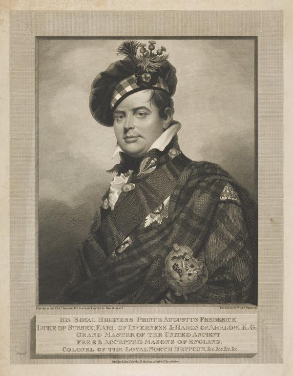 Augustus (Frederick), Duke of Sussex, 1773 - 1843. 6th son of George III (Published 1816)
