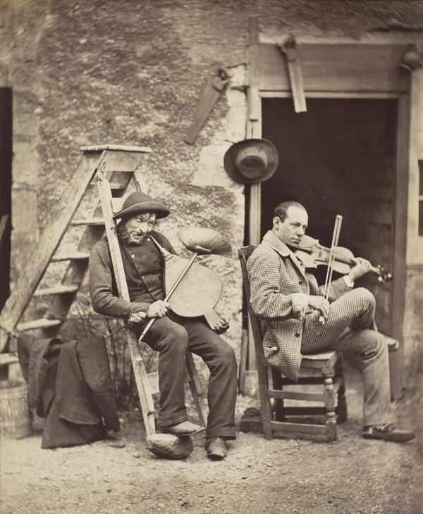 Thomas Rodger Senior and an Unknown Violinist (About 1855)