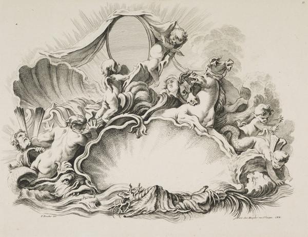 Plate Eleven of 'Livres de Cartouches' (About 1742)
