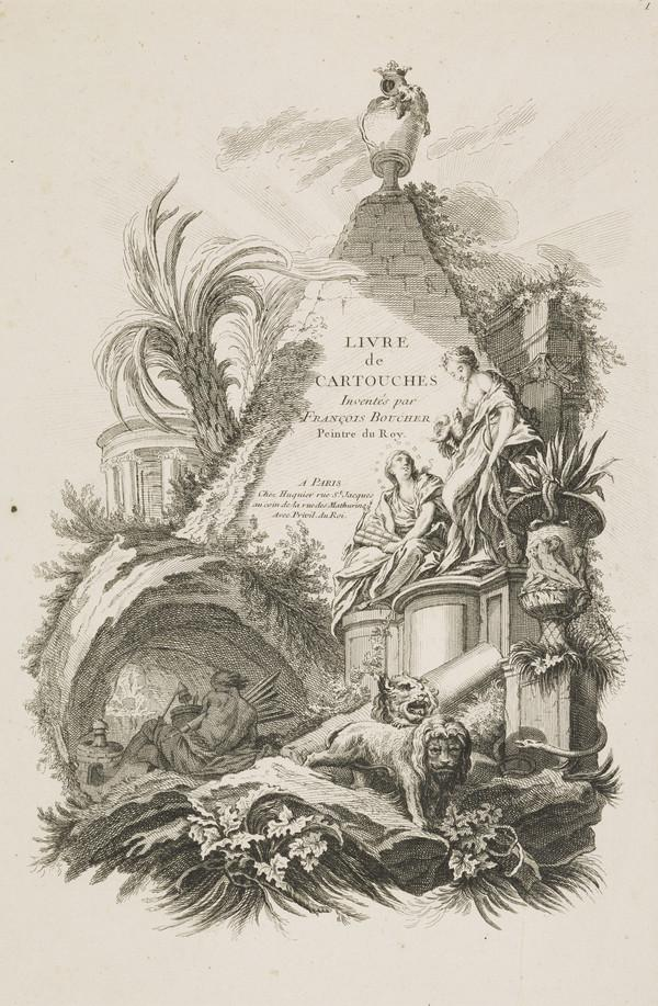 Frontispiece of 'Livre de Cartouches' (About 1742)