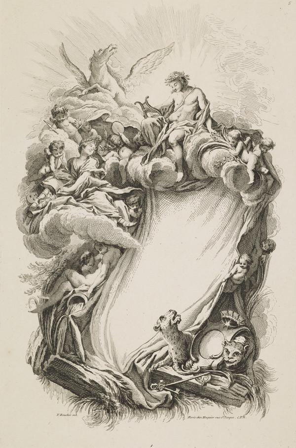 Plate Five of 'Livres de Cartouches' (About 1742)