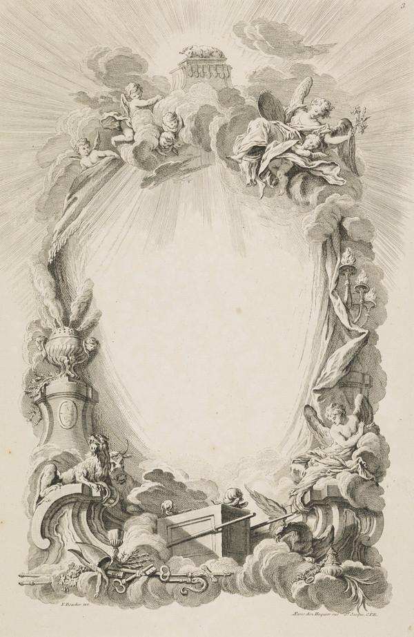 Plate Three of 'Livres de Cartouches' (About 1742)