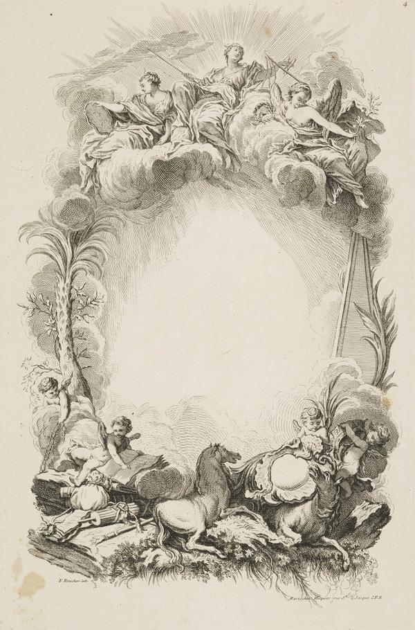 Plate Four of 'Livres de Cartouches' (About 1742)