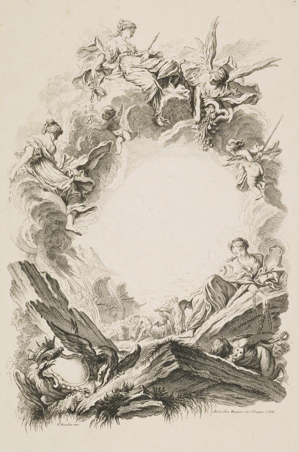Plate Seven of 'Livres de Cartouches' (About 1742)
