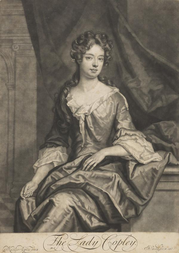 Catherine Purcell, Lady Copley, 1657 - 1699. Daughter of John Purcell of Nantuba; wife of Godfrey Copley, 2nd Baronet