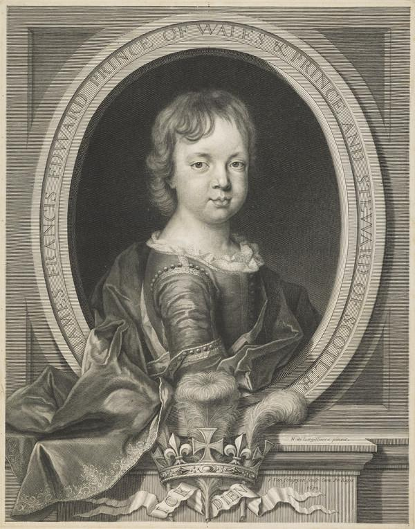 Prince James Francis Edward Stuart, 1688 - 1766. Son of James VII and II (as an infant)