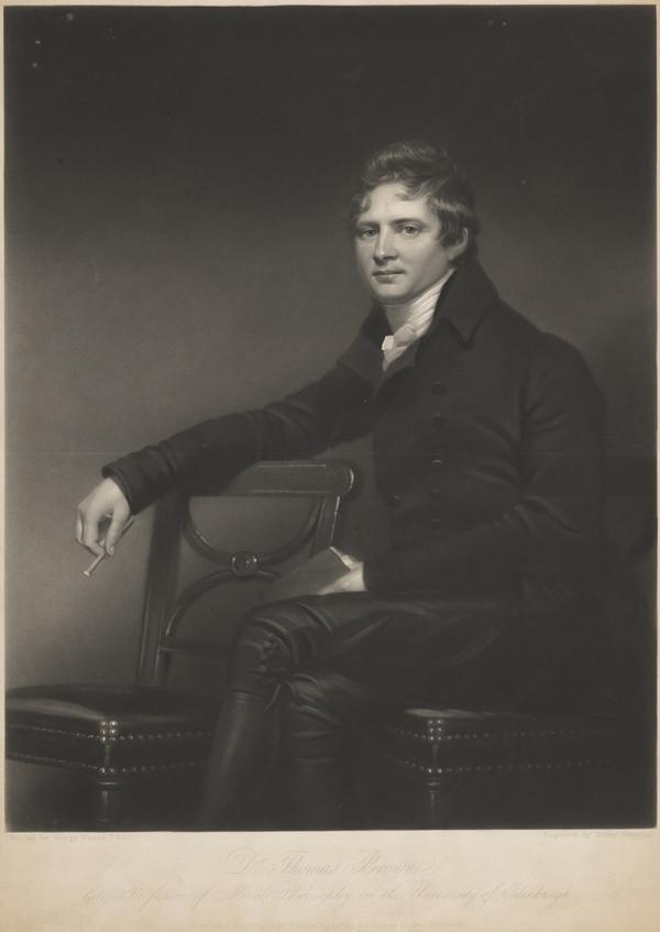 Dr Thomas Brown, 1778 - 1820. Professor of Moral Philosophy, Edinburgh University (Published 1845)