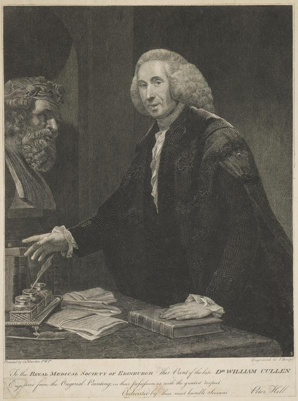 William Cullen, 1710 - 1790. Chemist and physician