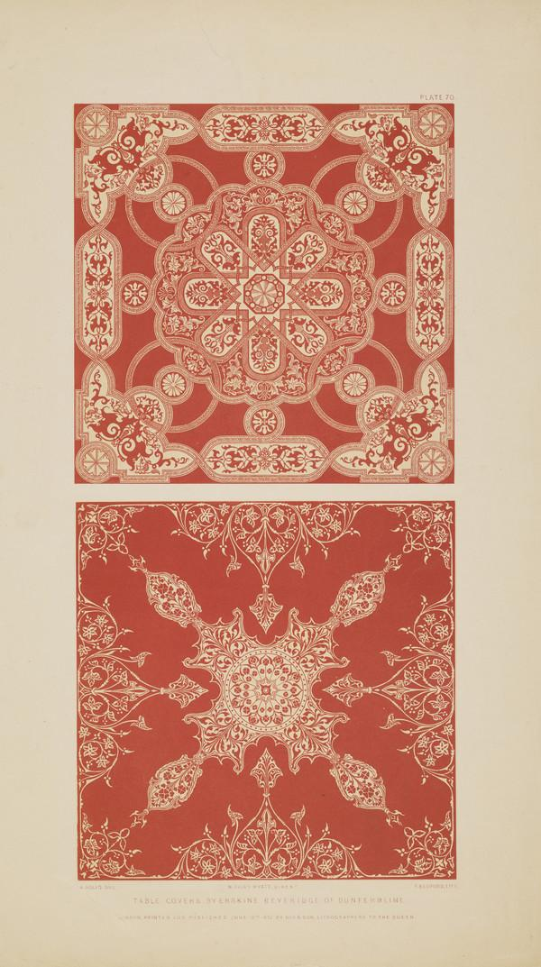 Table Covers by Erskine Beveridge and Co. of Dunfermline (Published 1852)