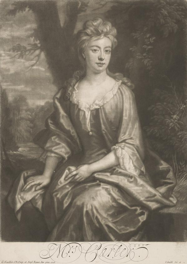 Mrs Carter (probably Isabella Boynton of Barnston, wife of Earl of Roscommon and of Thomas Carter of Co. Meath, died 1721)