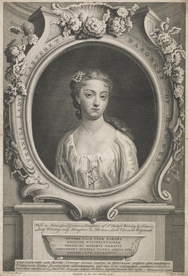 Lady Frances Carteret, d. 1743. 1st wife of Lord John Carteret (Published 1755)