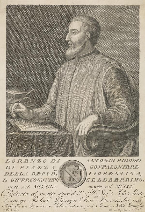 Lorenzo de Antonio Ridolfi, 1360 - 1400. Gonfalier of the Republic of Florence