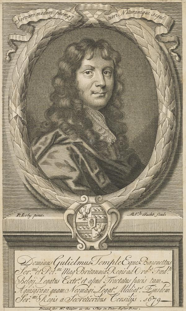 Sir William Temple, 1628 - 1699. Politician and author (Published 1679)