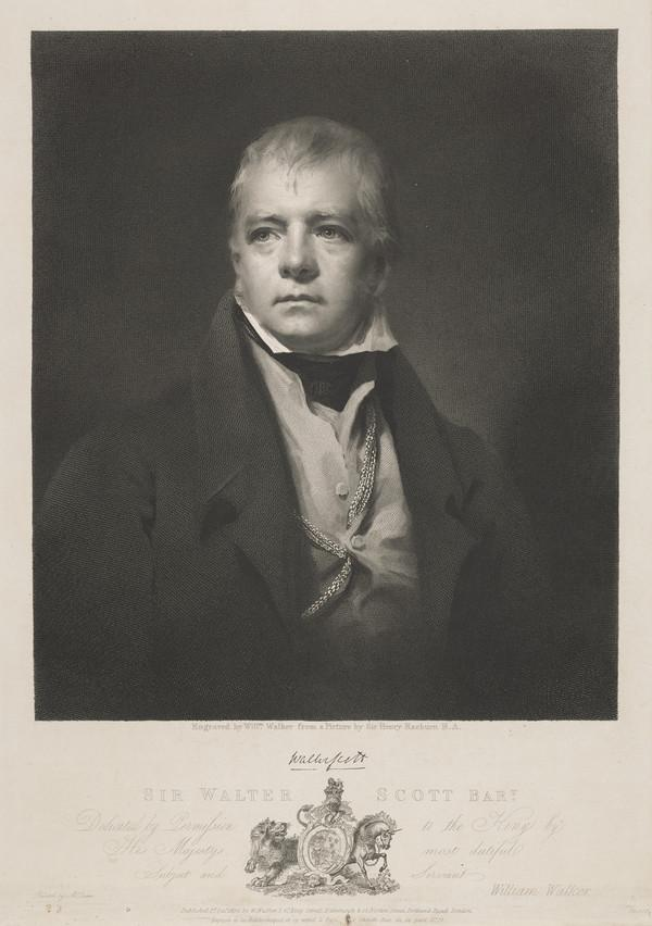Sir Walter Scott, 1771 - 1832. Novelist and poet (Published 1826)