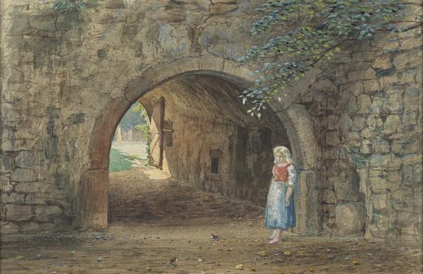 A Girl by an Archway (Mid-19th century)