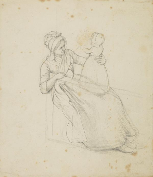 Study of a Mother Seated with her Small Child