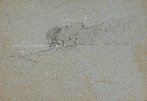 Trees on a Hill (Dated 1831)