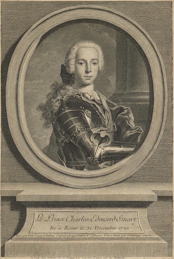 Prince Charles Edward Stuart, 1720 - 1788. Eldest son of Prince James Francis Edward Stuart (1735 - 1760)