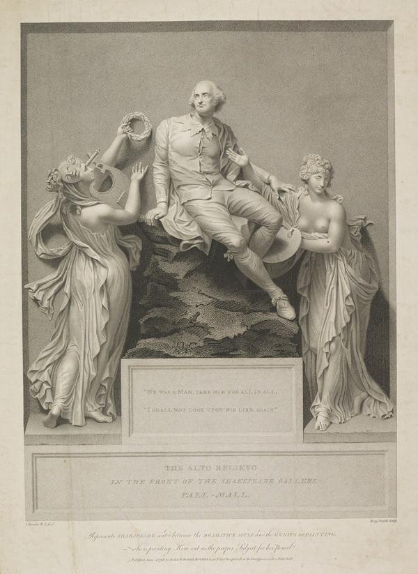 Shakespeare Between The Dramatic Muse and The Genius of Painting (1796)