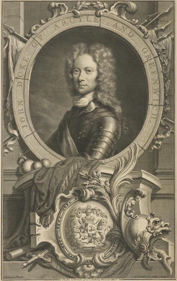 Birch's Heads: John Campbell, 2nd Duke of Argyll and Greenwich, 1678 - 1743. Soldier and statesman (1735)